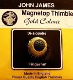 Magnet Top Thimble goldfarben Größe L (18), Fingerhut mit magnetischer Spitze