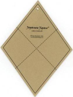 Japanese Jigsaw Template, Japanisches Puzzle - Fat Quarter Friendly