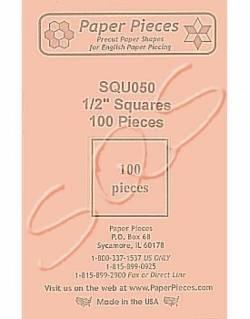 Papierschablonen Quadrat  1/2 inch Square, ca. 100 stk.