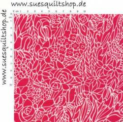 Timeless Treasures Stella Stained Glass pink weiss >>> nur Fat Quarter lieferbar <<<