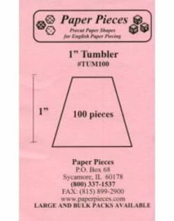 Papierschablonen Tumbler 1 inch, ca. 100 stk.