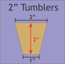 Papierschablonen Tumbler 2 inch x 1 inch, ca. 96 stk.