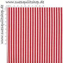 Timeless Treasures Red Stripe, Streifen rot u. weiß