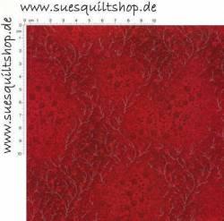Robert Kaufman Fusions Ruby Small Floral Vine, Ranken rubinrot