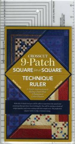 Square in a Square Crosscut 9-Patch Ruler  - mit Anleitung