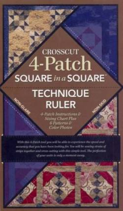Square in a Square Crosscut 4-Patch Ruler  - mit Anleitung