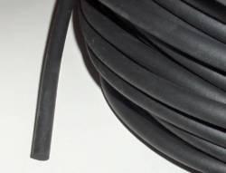 Moosgummi-Rundschnur schwarz, 1 Meter am Stück