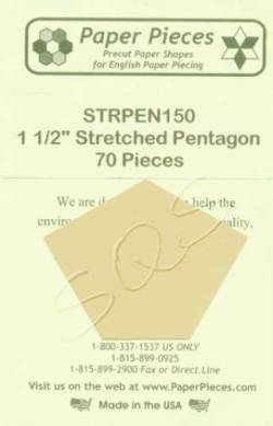 Papierschablonen unregelmäßiges Fünfeck 1-1/2 inch