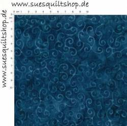Timeless Treasures Tonga Sea Scroll Schnörkel blau