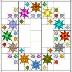 PDF Anleitung Block of the Month 2012 Zodiac Stars - kein Versand in die EU außer D!