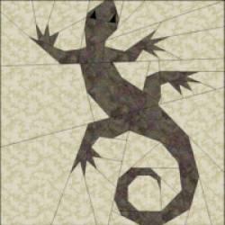 PDF Anleitung Gecko, ca. 20,32 x 20,32 cm - kein Versand in die EU außer D!
