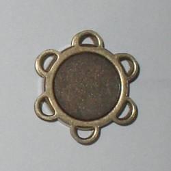 Magnetverschluß zum Annähen, 18 mm Durchmesser, antik gold