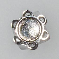 Magnetverschluß zum Annähen, 18 mm Durchmesser, nickel schwarz