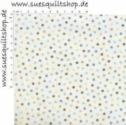 Benartex Tranquility Punkte klein blau grau taupe