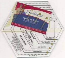 Hexagon Ruler 1-6 INCH