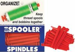 Spooler Spindles - Aufbewahrung für Garnrolle UND Nähmaschinenspule! Nachfüllpackung