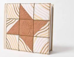 Quilt Journal Mocha Star, Notizbuch, ca. 15,24 cm