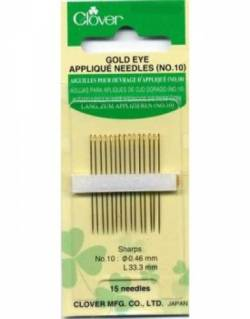 Applikationsnadeln Clover Gold Eye Sharps No. 10