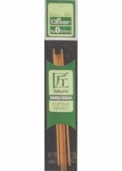 Bambus-Stricknadeln 13 cm lang, Stärke 2.0, Nadelspiel TAKUMI (5 Stück), für Socken