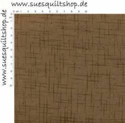 Stof Quilters Basics Streifen überkreuzt braun auf braun