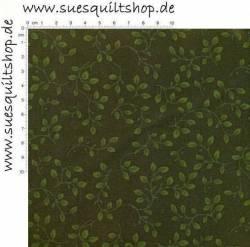 Henry Glass Folio Hunter Rückseitenstoff Blätter u. Ranken grün auf grün