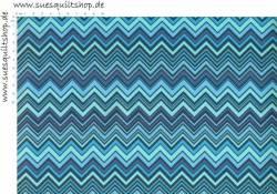 Free Spirit Novella Zigzag Blue Sateen DEKOSTOFF