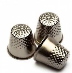 Fingerhut, Metall vernickelt, 15.5 mm klein Gr. 1