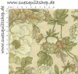 Benartex Victoria Large Floral Taupe >>> Mindestbestellmenge 1 Meter <<<
