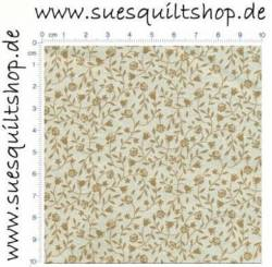Lecien Petit Fleur Light Brown Floral Vines, Ranken braun beige >>> nur noch Fat Quarter <<<