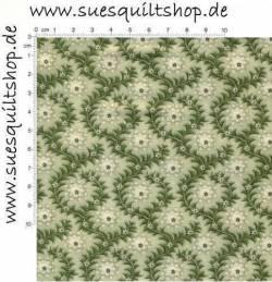 Benartex Heritage Prints Ogee Print Moss Ranken moosgrün >>> Reststück 0,66 m  <<<