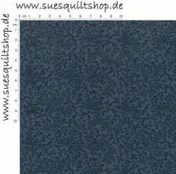 Benartex Documentaries Quilt Back Print Delicate Vines Ranken schwarz auf blau