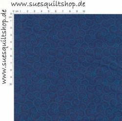 David Textiles Lindas Scrolls Twilight Blue Schnörkel blau auf blau