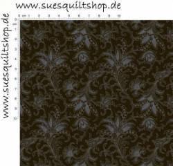 David Textiles Camiles Vintage Black, Paisley schwarz