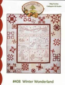Anleitung Winter Wonderland - Patchwork und Redwork Stickerei