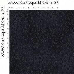 Robert Kaufman Fusions Black Small Floral Vine Ranken grau auf schwarz