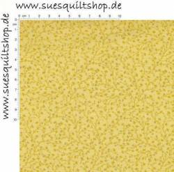 David Textiles Catherines Vines Aspen Gold, Ranken goldgelb auf gelb