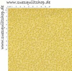 David Textiles Catherines Vines Aspen Gold, Ranken goldgelb auf gelb