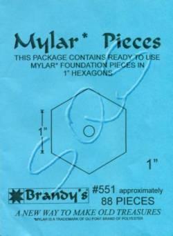 Mylar-Schablonen Hexagons  1 inch, ca. 88 Stück