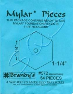 Mylar-Schablonen Hexagons  1-1/4 inch, ca. 54 Stück