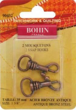 Bohin Karabinerhaken 35 mm antik bronze 2 stk.
