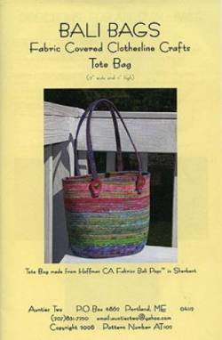 Anleitung Bali Bags - Fabric Covered Clothesline Crafts