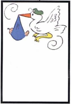 Quilt Label Stork Delivery, Klapperstorch