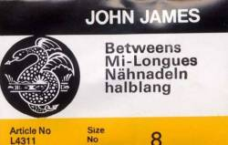 John James Quiltnadeln Betweens No. 08 große Packung (25 stk.)