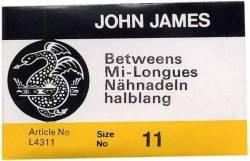 John James Quiltnadeln Betweens No. 11 große Packung (25 stk.)