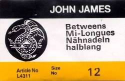 John James Quiltnadeln Betweens No. 12 große Packung (25 stk.)