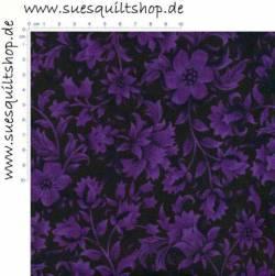 RJR Jinny Beyer Renaissance Garden Purple Floral Blümchen violett