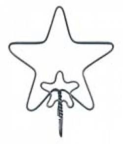 Drahthänger Stern 3 inch