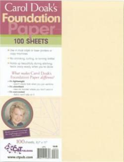 Carol Doaks Foundation Paper 8.5 x 11 inch