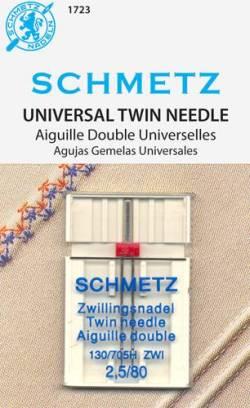 Schmetz Nähmaschinennadel Universal Zwillingsnadel #  80 - 2,5 mm Abstand