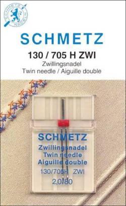 Schmetz Nähmaschinennadel Universal Zwillingsnadel #  80 - 2,0 mm Abstand